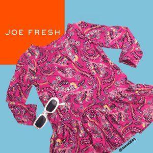 NWT Joe Fresh Baby Girls Pink Print Floral Dress